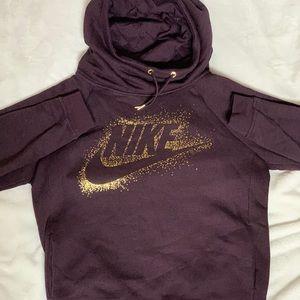 Purple Nike Funnel Neck Hoodie!!😨🤪